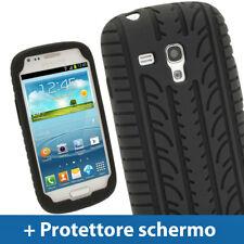 Nero Custodia Pneumatico per Samsung Galaxy S3 III Mini I8190 Silicone Cover