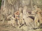 """Vintage Tapestry Musical Romantic Victorian Scene 37"""" x 38.5 Made in France"""