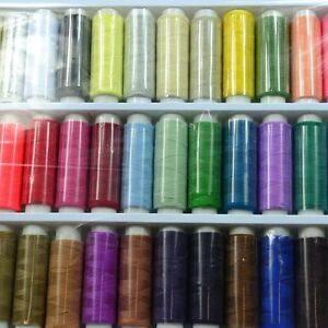 1Set 39Color 200yds POLYSTER THREADS SEWING MACHINE COTTON ASSORTED DIY ZH