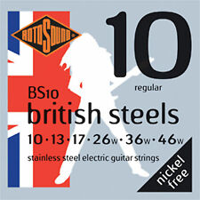 ROTOSOUND BRITISH BS10 STAINLESS STEEL 10-46 ELECTRIC GUITAR STRINGS 2 PACKS