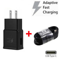 For Samsung Galaxy S8 S9 Note 8 9 Fast Charging Wall Charger USB C Type-C CABLE