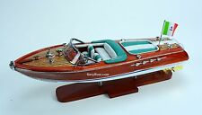 "Riva Aquarama 20""- Handcrafted Wooden Classic Boat Model (Green Seats)"