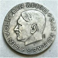 WW2 GERMAN COMMEMORATIVE LARGE COLLECTORS COIN REICHSMARK