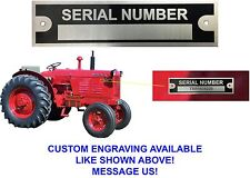 Blank Serial Number Data Plate ID Tag Farm Equipment Trailer New Free Shipping