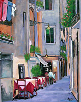 CAFE WINE Original Fine Art PAINTING DAN BYL Modern Contemporary Huge 5ft x 4ft