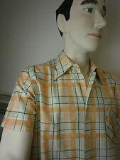 VEB abbigliamento Blankenburg DDR Uomo Camicia True Vintage Rockabilly GDR SHORT