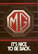 MG Saloons History 1982 UK Market Foldout Brochure Metro Magnette