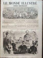 LE MONDE ILLUSTRE 1860 N 162 LES ENFANTS DE TROUPES DE LA GARDE IMPERIALE