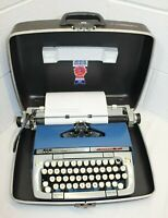 Vintage Smith Corona Classic 12 Manual Typewriter w Original Case works!  issues