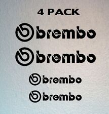 Set of 4 Brembo Brake Vinyl Decal Caliper Stickers [Choose your color]