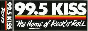 99.5 KISS ROCK STATION - SAN ANTONIO - Vintage BUMPER STICKER from the 90s - NEW