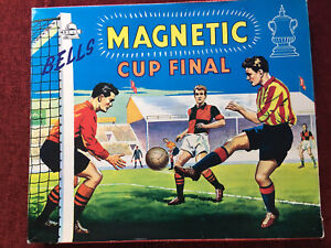 Vintage Football Game, Bells Magnetic Cup Final Board Game ~ 1960's Complete VGC
