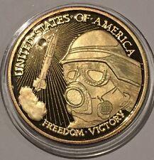 1991 Desert Storm Gold Gilded USA Collectible Coin 1 Troy Oz .999 Fine Silver Ag