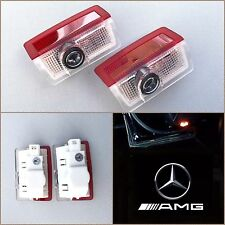 NEW (2PC) W205 W212 C E MERCEDES AMG LOGO DOOR PANEL LED PROJECTOR LIGHT LT005