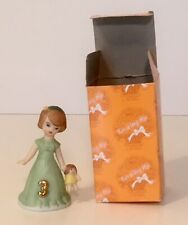 Enesco- Growing up Girls Brunette Age 3 E9527 New Pre-owned Mint W/ Box