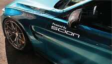 "Powered by Scion Decal Sticker logo FR-S FT86 XC XB TC Toyota 12"" Pair"