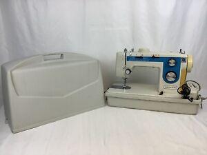 Vintage DRESSMAKER SS-2402 Sewing Machine w/Hard Carry Case NO.C217