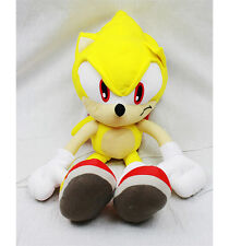 """Sega SUPER SONIC THE HEDGEHOG Supersonic 20"""" PLUSH DOLL BACKPACK Toy Tote NEW!!"""