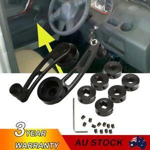 2x Aluminum Manual Billet Car Window Crank Handle Winder Lever Kit Universal