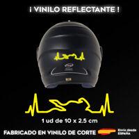 VINILO CARDIOMOTO AMARILLO REFLECTANTE STICKER PEGATINA MOTO CASCO ADHESIVO