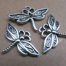 20pc Tibetan Silver Dragonfly Animal Pendant Charms Beads 23mm*16mm  PL088