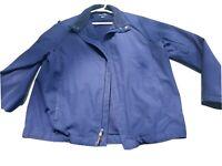 Polo Golf Ralph Lauren Sport Windbreaker Polyester Full Zip Mens Jacket Navy L