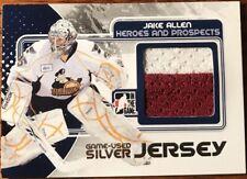 2010-11 ITG Heroes & Prospects Game Used Jerseys SILVER Jake Allen #M-15