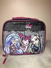 New Without Tags Monster High Insulated Lunch Bag/box -School Lunch Box