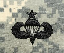 20 Pack Army Airborne Senior Parachutist Embroidered ACU Sew-On Camo Patches