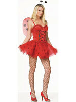 Adult 8-18 Love Bug Ladybird Outfit Fancy Dress Costume Fairy Lady Bird Womens