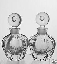 VINTAGE PERFUME BOTTLE PUMPKIN SHAPE CONTROLLED BUBBLE STOPPER PAIR