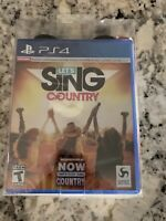 Let's Sing Country Two Microphones Bundle PlayStation 4 Karaoke Game PS4 NEW