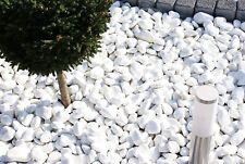 More details for pure white sparkling marble pebbles stone greek thassos gravel landscape garden