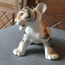 Tigre en Porcelaine, Lomonosov, Très Bon État.