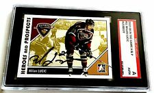MILAN LUCIC SIGNED 2007/08 HEROES AND PROSPECTS CARD #61 SGC AUTHENTICATED