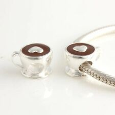 Coffee Cup Love A Coffee Charm Bead 925 Sterling Silver