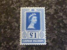 CAYMAN ISLANDS POSTAGE STAMP SG161A £1 BLUE VLMM
