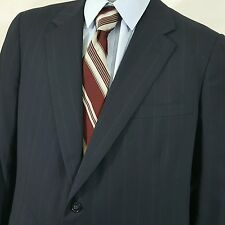 Brooks Brothers Markers Blend Black Striped 46 R Suit Jacket Made in USA