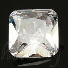 15MM Natural White Sapphire Cushion Shape Lustrous Loose Gemstone New