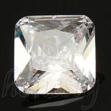15MM Artificial White Sapphire Cushion Shape Lustrous Loose Gemstone