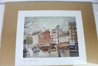 1982 Paris ARTERTRE Print Paris Le Moulin Rouge France Made 17.5x14""