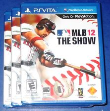 Lot of 3 MLB: The Show 12 Sony Playstation Vita *Factory Sealed! *Free Shipping!