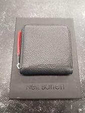 Neil Barrett Leather Small Zip Holder Black