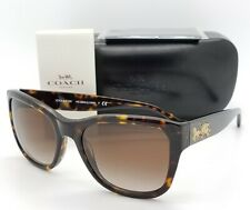 6ca6b06f5e96 New Coach sunglasses HC8243 541713 Dark Tortoise Brown Gradient AUTHENTIC  8243