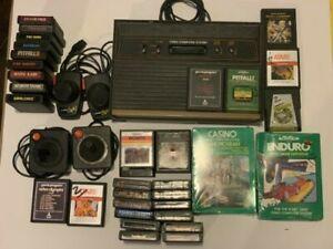 Vintage ATARI 2600 CONSOLE CX-2600A + 31 Games, Paddles And 2 Joysticks