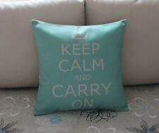 Keep Calm And Carry On Cotton Linen Cushion Cover Throw Pillow Home Decor B509