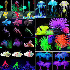 Aquarium Fish Tank Glow Simulation Coral Animal Plant Ornament Landscaping Decor