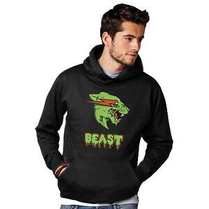 Mr Beast Zombie Hoodie ZOMBEAST Youtube Merch Unisex Mens Womens Pullover S-3XL