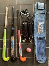 Field Hockey Set: Harrow, STX, Brine Sticks, Ball, STX bag, Face Mask.