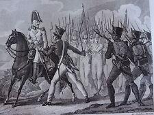 Gravure EMPIRE Capitaine JOBERT CAMPAGNE AUTRICHE WAGRAM LOBAU NAPOLEON 1809